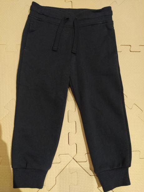 Spodnie dresowe granatowe h&m 92