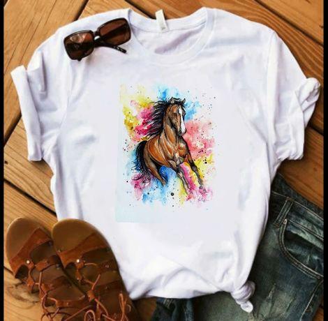 Koszulka t-shirt bluzka koń różne wzory S-XXL