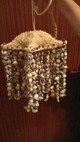 Venda ou troca Candeeiro de Tecto Conchas e Estrela do Mar Natural
