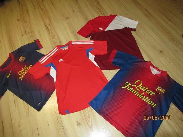 Zestaw koszulek sportowych ,piłkarskich Nike Adidas 146 /152 chłopięce