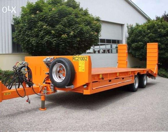 Przyczepa niskopodwoziowa PRONAR RC 2100/2 - ład. 14,9 tony DUŻY RABA