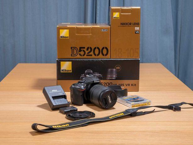 Lustrzanka Nikon D5200 + Obiektyw 18-105