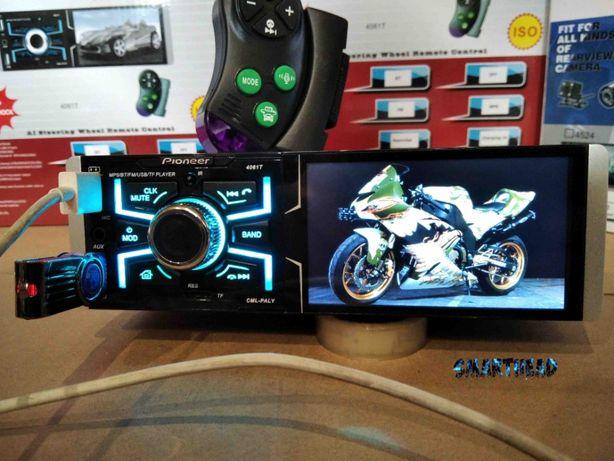 "Автомагнитола Pioneer 4061T.Сенсорный Экран 4,1"".Bluetooth.3USB,SD.AUX"
