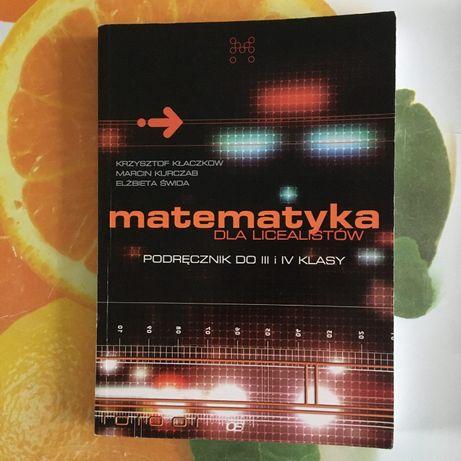Matematyka Dla Licealistów III i IV kl, Analiza Matematyczna Dla Licea
