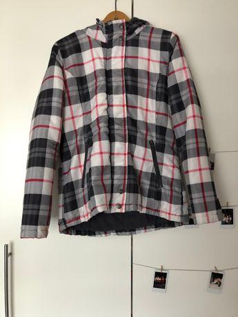 szara kurtka ziomowa na zimę w kratę kratkę, cropp, rozmiar M 38 L 40