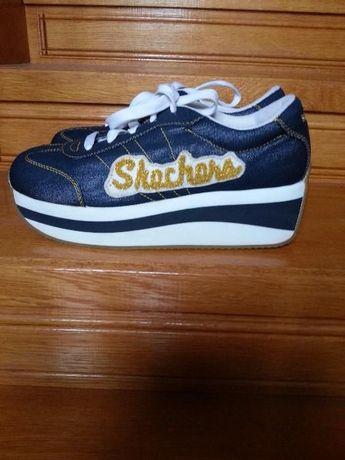 Skechers кроссовки слипоны сникерсы мокасины обувь 40-41р пудрового
