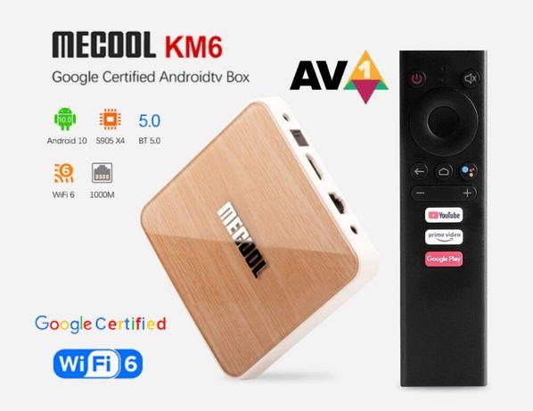 Гарантия! Mecool KM6 Deluxe 4+32/64Gb S905X4 tv box тв приставка
