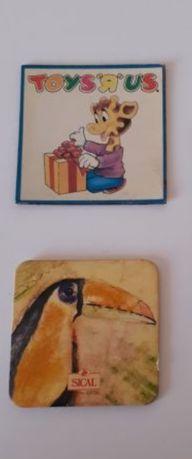 Íman frigorífico 1,5e cada : Sical (tocano), Toys'r'us (Geoffrey)