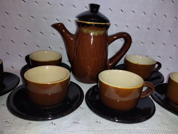 Чайный кофейный сервиз 80-90гг винтаж