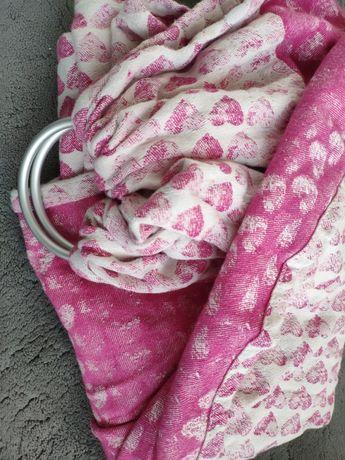 Sensimo sling stamps różowa kółka chusta kółkowa