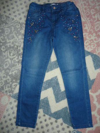 Spodnie jeans 122 / 128 MiCo kids dziewczęce z cekinami