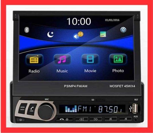 """7"""" LCD dotyk wyświetlacz PILOT USB sd 4x45W Radio samochodowe"""