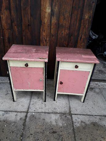 Drewnianne szafki z prl
