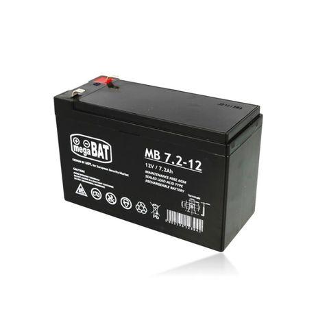 Bateria 12V 7ah 7.2AH MB 7.2-12 AGM VRLA Megabat Ultracell Alarme UPS