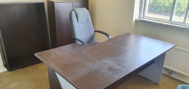 1 Secretaria escritório +2 Armários+ 1 Bloco gavetas