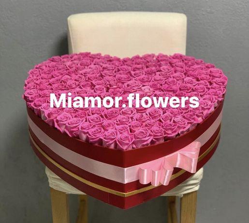 Букет цветов для любимой мамы розы гортензии тюльпаны