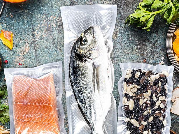 15x40 cm Worki moletowane na rybę Profi Cook Foodsaver Lund Hendi