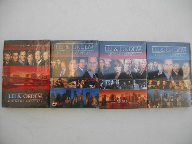 4 Séries: Lei & ordem, unidade especial (1,2,3,4) em DVD