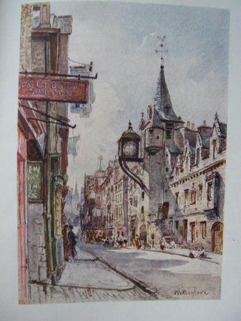 """""""Edinburgh"""" - książka wydana w 1904r. w Londynie, z barwnymi ilustr."""