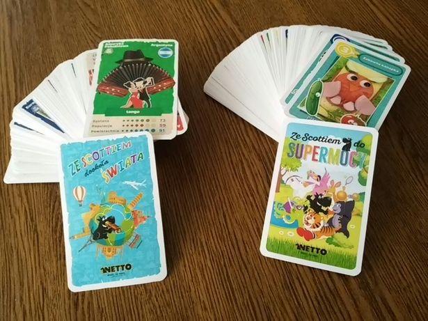 Karty netto karty biedronki scottiem super zwierzaki
