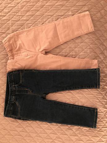 Tegginsy, legginsy, spodnie dżinsy H&M 86