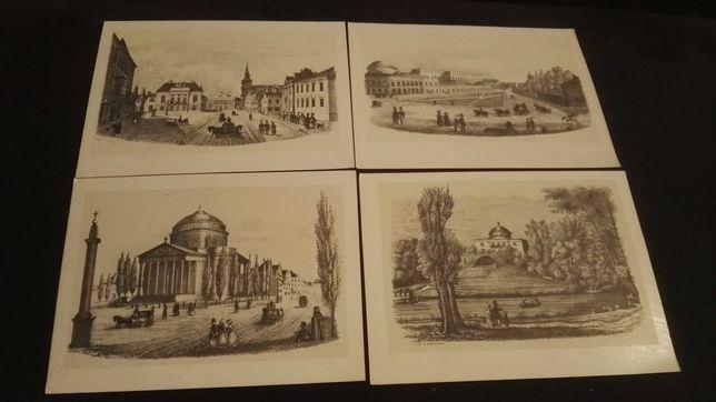 Warszawa XIX wieku pocztówki F.Szuster 1964r 8 szt