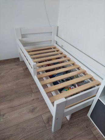 Łóżko sosnowe biale 80cm x 160cm pojemnik na materac