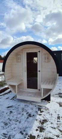 Sauna ogrodowa Beczka 2,65 m z piecem elektrycznym 6kW