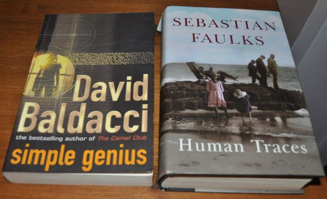 Human Traces - Sebastian Faulks+Simple genius - David Baldacci -KRAKÓW