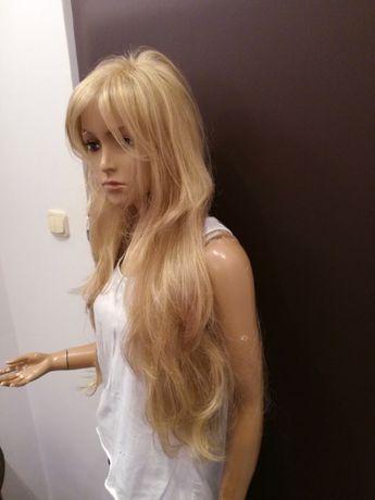 Peruka naturalna włosy słowiańskie nowa front lace