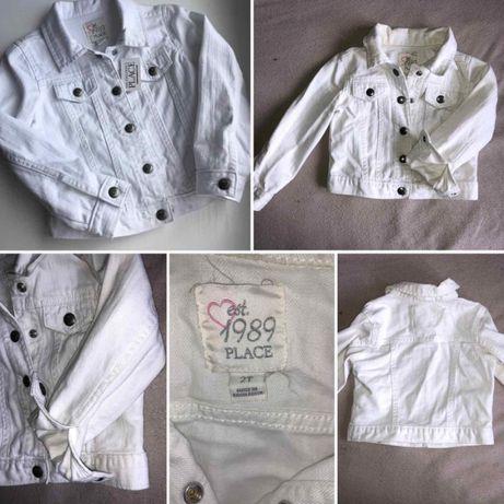 Джинсовая куртка Childrens place белый пиджак, размер 2Т
