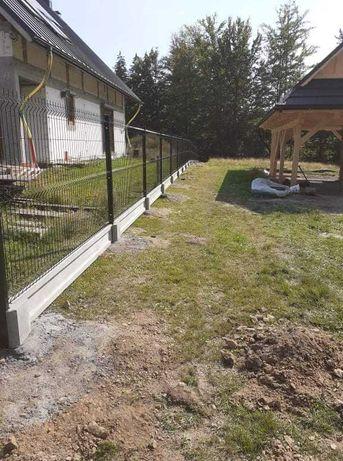 Panele ogrodzeniowe PROMOCJA fi4 h- 1.53, podmurówka, słupki