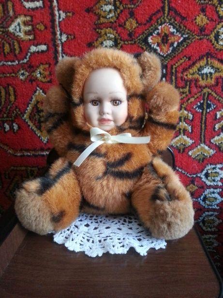Кукла «Тигренок» с фарфоровым личиком