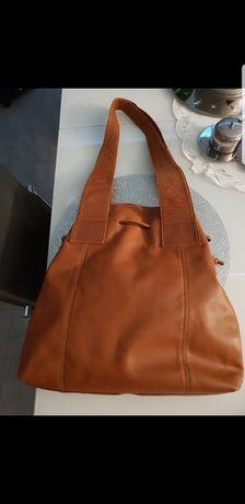 Nowa torba brązowa skórzana super bag skóra naturalna