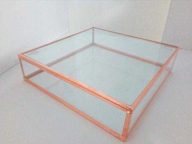 Pudełko szklane, szkatułka, organizer