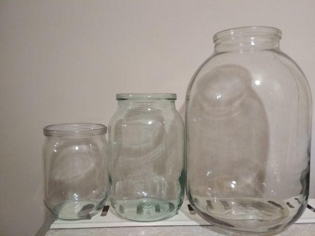 Банки скляні: 0.5л, 1л, 2л, 3л. Якісні та чисті