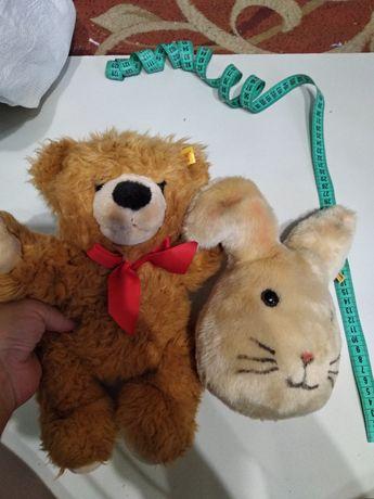 Игрушки мишка и зайкаsteiff
