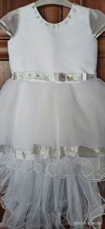 Платье со шлейфом нарядное праздничное, выпускное