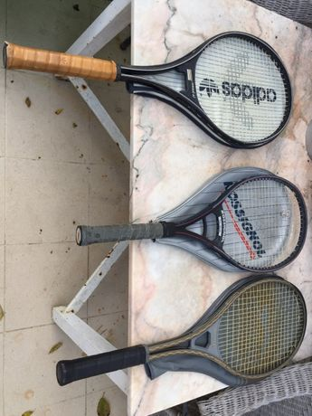 Conjunto de 3 Raquetas de ténis , vintage
