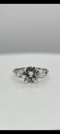 Кольцо с бриллиантами 3.28 карат