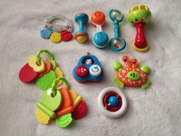 Grzechotki i gryzaki dla niemowląt