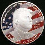 Moeda comemorativa Donald Trump