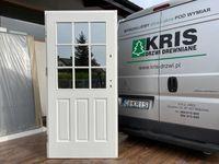 Drzwi zewnętrzne drewniane białe OD RĘKI ANGIELSKIE ocieplane