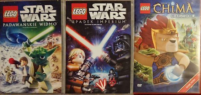 3 filmy LEGO (star wars i chima)