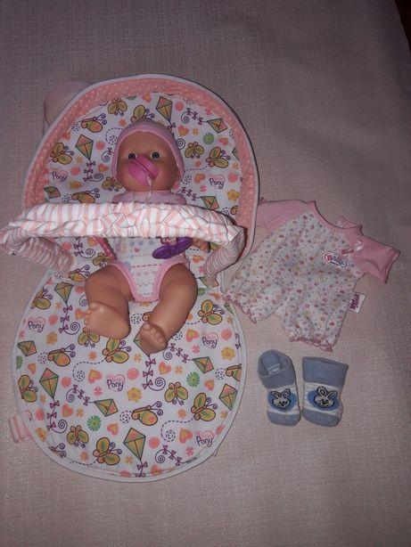 Baby born беби бёрн + пересонка эргорюкзак для куклы одёжка