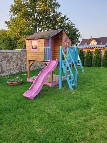 domek dla dzieci drewniany plac zabaw