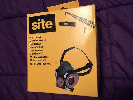 Meia Máscara Profissional com filtros de partículas