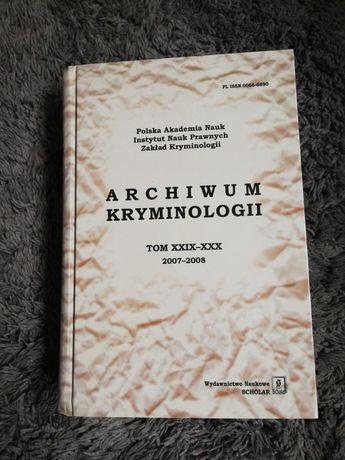 Książka archiwum kryminologii
