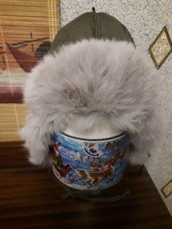 Зимняя шапка-ушанка с натуральным мехом