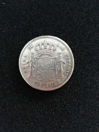 Moeda 1851 - 20 Reales